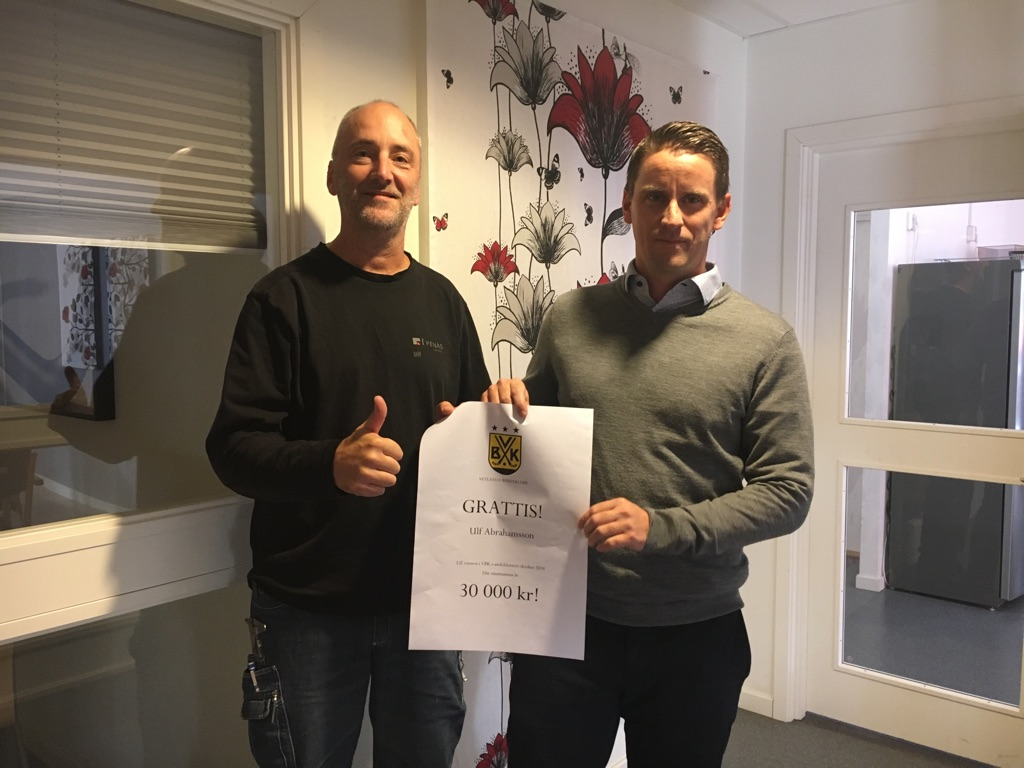 Ulf vann 30 000 kr i Andelslotteriet