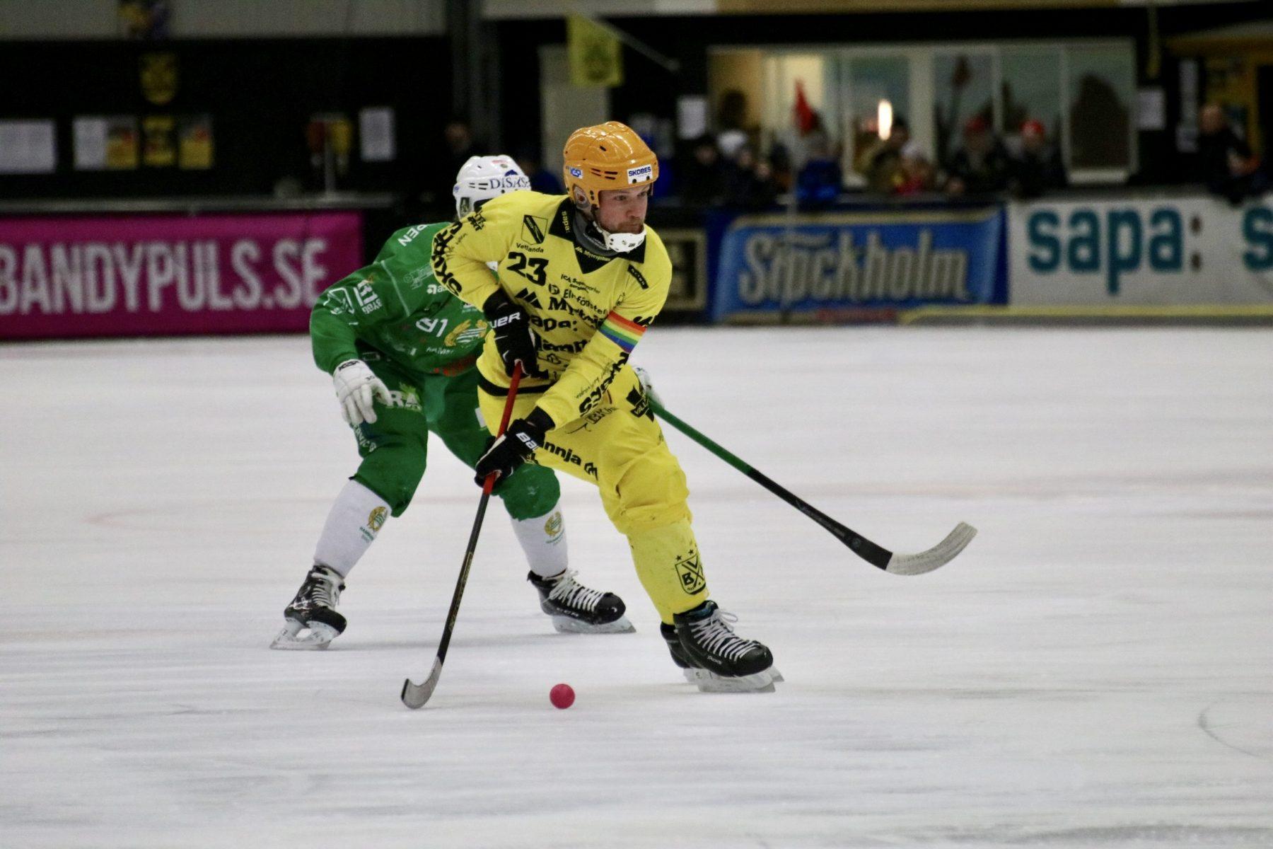 Johan Löfstedt i den fjärde kvartsfinalen mot Hammarby.